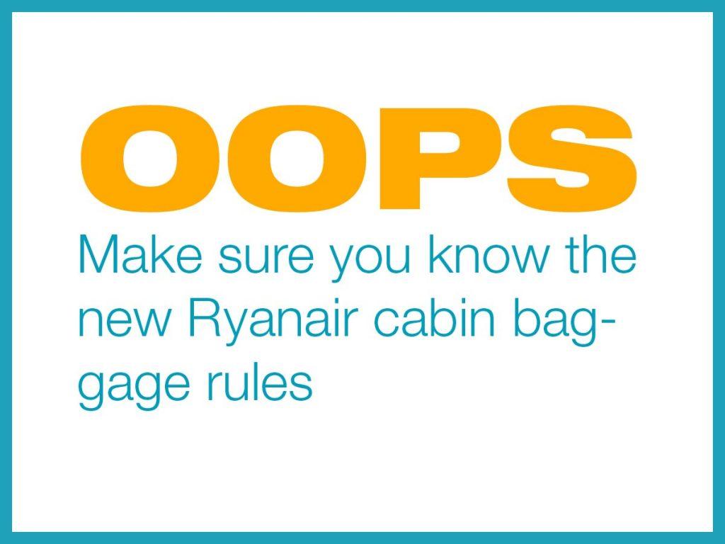 Ryanair-Gepäck-Regelung