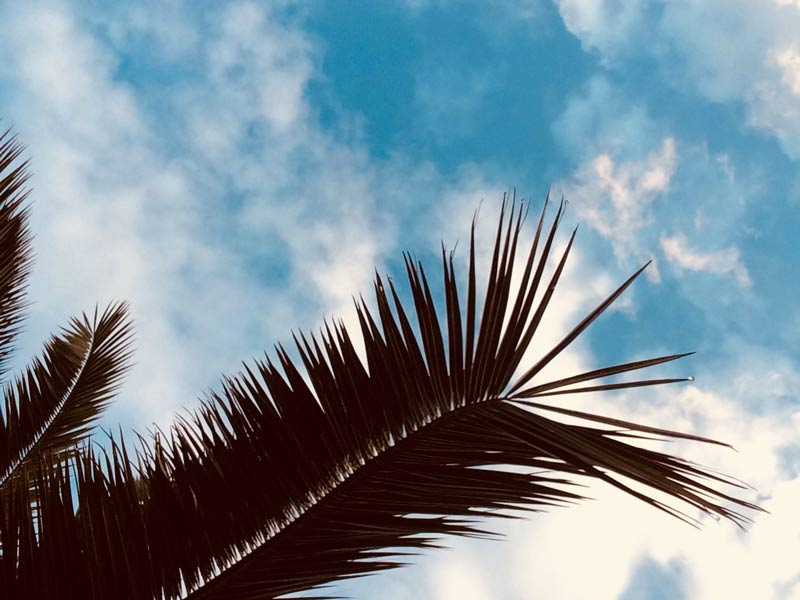 Wolken und Sonne auf Mallorca
