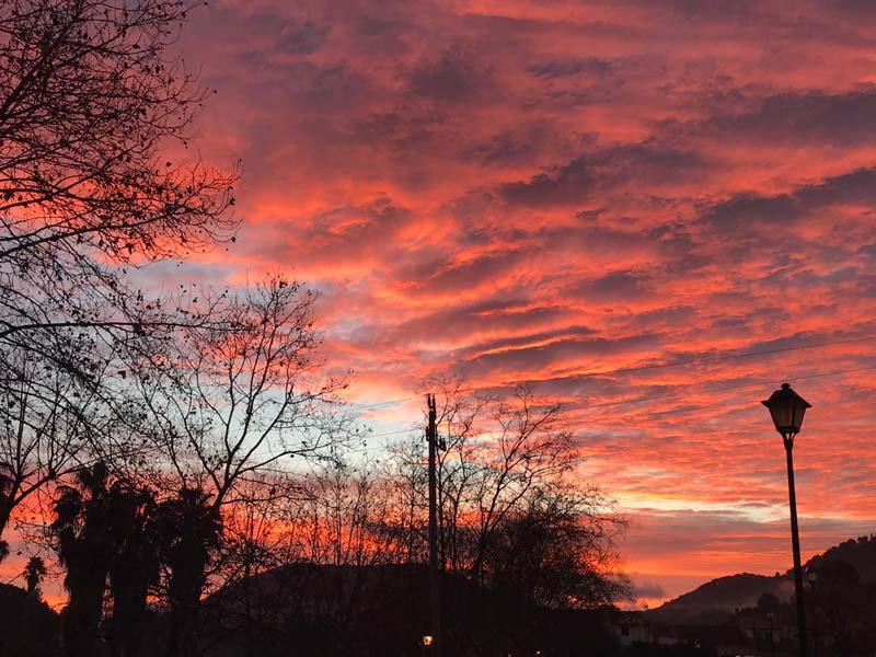 Der Dezember-Himmel auf Mallorca
