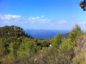 Panoramablick, Tramuntana, Mallorca, Wandern